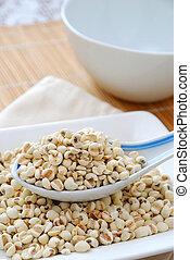 secado, cevada, sementes, como, alimento, ingredientes
