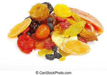 secado, fruits