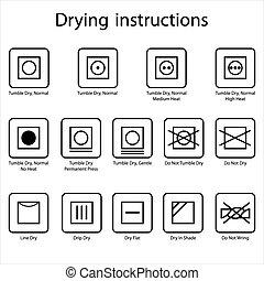 secado, instrucción