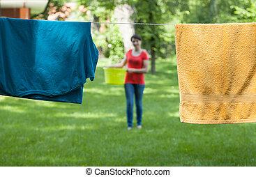 secado, lavadero, jardín