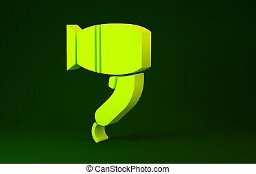 secador, verde, símbolo., concept., aire., minimalism,...