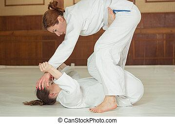 sección, trabajo, niñas, mujeres, jiu, jitsu, recepción,...