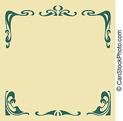 Secession frame - Ornamental vintage frame in secession...