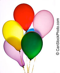 sechs, luftballone
