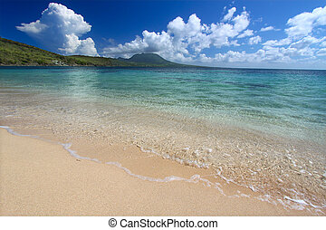 Secluded beach on Saint Kitts