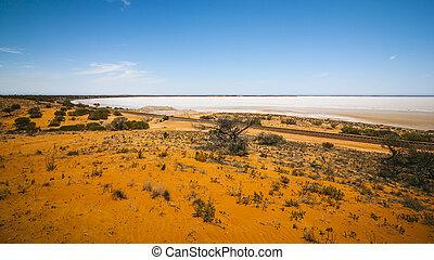 seco, australia, lago