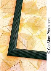 seco, hojas, -, fondo coloreado
