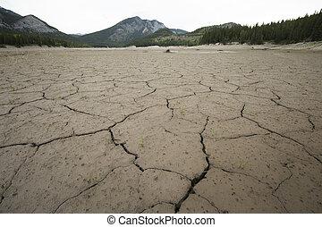 seco, lago