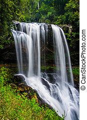 seco, nantahala, bosque nacional, bajas, río, cullasaja