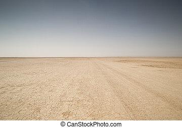 seco, sáhara, lago, desierto