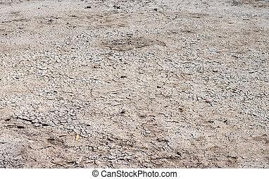 seco, suelo agrietado