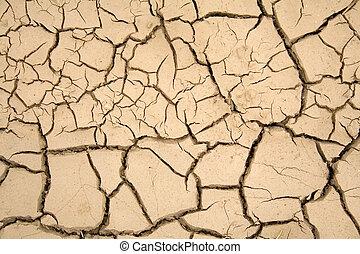 seco, tierra, -, calentamiento del planeta