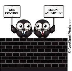 Second Amendment - Gun control verses the USA second...