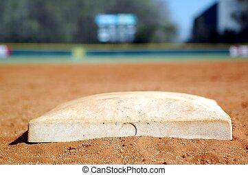 Second Base - Second base on baseball diamond.