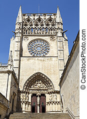 cathedral in Burgos, Spain - Second entrance from the square...