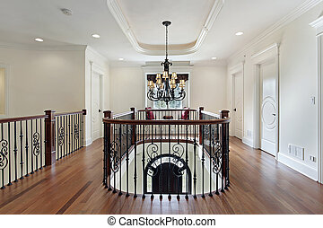 Second floor landing in luxury home - Second floor landing...