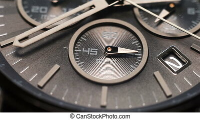 Luxury Watch Face - Second Hand On The Chronograph. Luxury ...