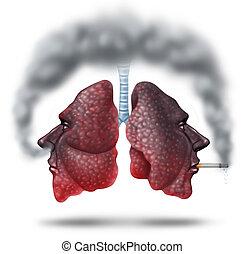 Second Hand Smoke - Second hand smoke health care concept...