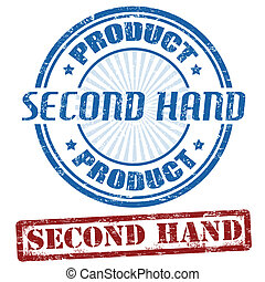 Set of second hand grunge rubber stamps, vector illustration