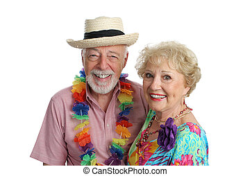 Second Honeymoon - An attractive mature couple enjoying...