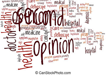 Second opinion word cloud concept