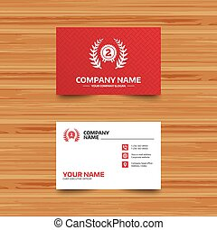 Second place award sign icon. Prize for winner. - Business...