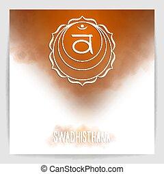 Second, sacral chakra - Swadhisthana.
