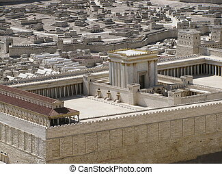 Model of the Second Temple of Jerusalem also know as Herod's Temple is found in Israel Museum in Jerusalem .