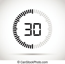 seconde, 30, minuteur