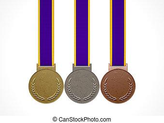 seconde, troisième, médailles, premier