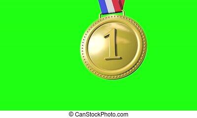 seconde, vert, médailles, troisième, premier