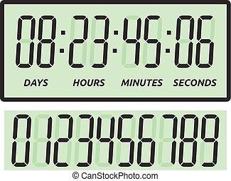 secondes, jours, heures, minutes