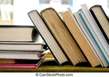 secondo, libri, mano