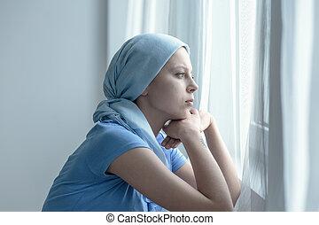 secondo, terapia, radiazione, donna