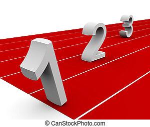 secondo, vincitore concorrenza, primo, terzo, concetto
