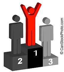 secondo, vincitori, posto, terzo, primo