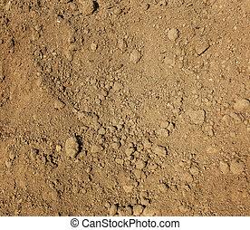 secos, agrícola, marrom, solo