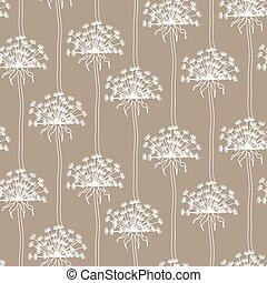 secos, dandelion, padrão, abstratos, -, seamless, flores