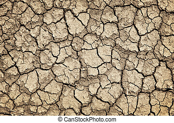 secos, durante, rachado, seca, chão