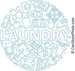 secos, máquina, lavando, serviço, quadros, símbolos, experiência., forma, vetorial, limpeza, lavanderia, círculo