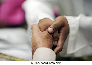 secousse main