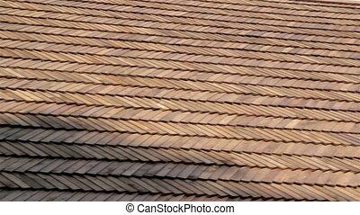 secousses, bois, bardeau, toit, cèdre, maison
