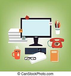 secretária, escrivaninha