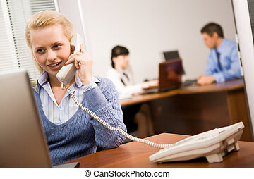 secretária, no trabalho