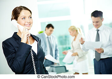 secretária, telefone
