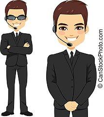 Secret Agent Bodyguard - Full body of secret agent bodyguard...