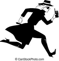 Secret agent girl clip-art