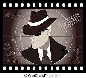 Secret agent man - Old time male secret agent or detective...