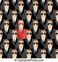Secret agents. A spy among agents. Seamless pattern pepople