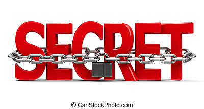 Secret and chain with lock